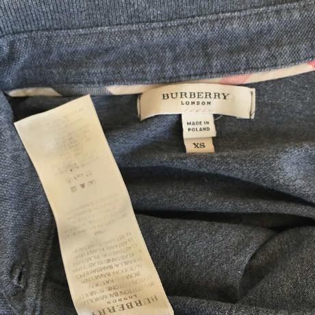 Burberry Polo-Shirt in Grau Grau Freies Verschiffen Truhe Finish 96sSwj