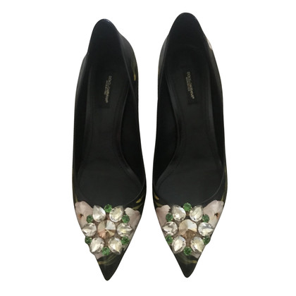 Dolce & Gabbana pumps with gemstone trimming