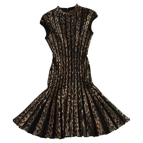0761835295877 Roberto Cavalli Wool leopard dress 42 IT - Second Hand Roberto ...