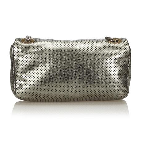 Chanel Flap Bag in Grau-Metallic Grau Billig Verkauf 2018 Neue VRHb60