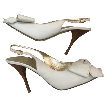 Valentino Slingbacks in white
