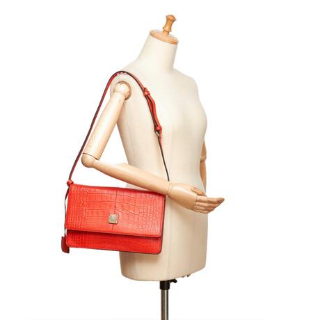 Für Schönen Günstigen Preis 2018 Kühl MCM Geprägte Umhängetasche Rot Authentisch Spielraum Offizielle Seite Billige Veröffentlichungstermine p5qox