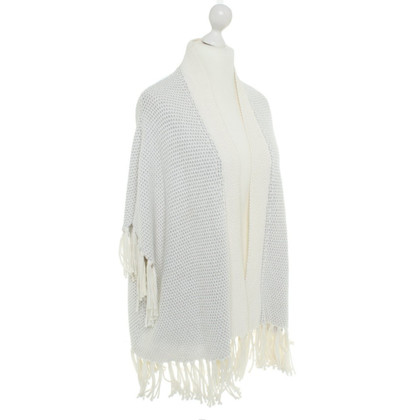 Bloom Knit poncho in cream