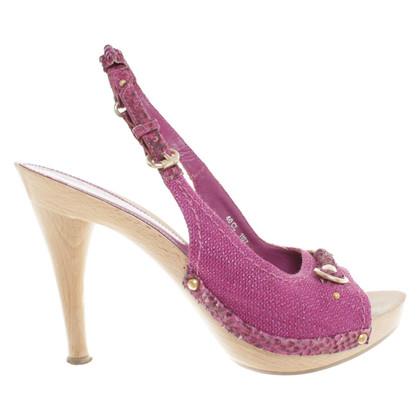 Christian Dior Holz-Sandaletten