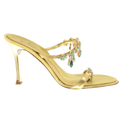 Giuseppe Zanotti Gold colored sandals