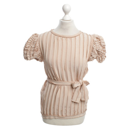 Fendi Top in seta rosa antico