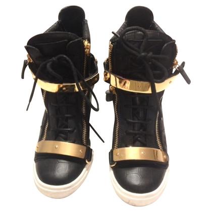 Giuseppe Zanotti cunei della scarpa da tennis