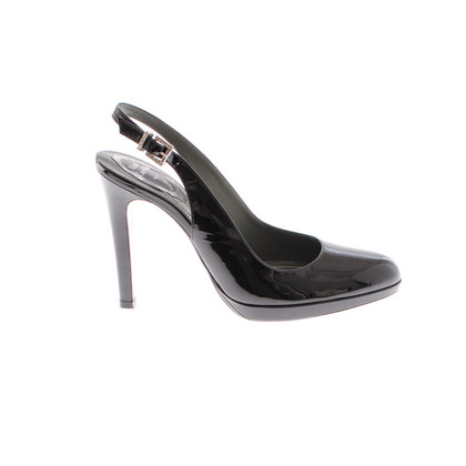 René Caovilla Black patent leather pumps