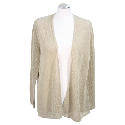 Luisa Cerano Sweater in beige with golden shine