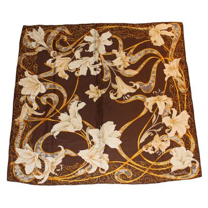 Christian Dior Zijden sjaal met bloemenprint