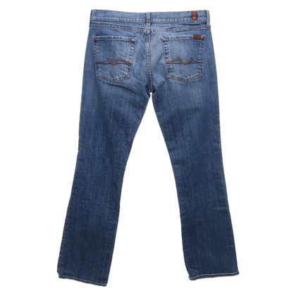 7 For All Mankind Jeans bootcut au look usé