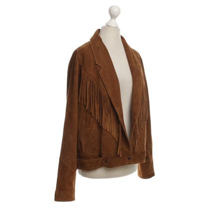 Maje Suede jacket in Brown
