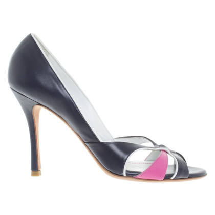 Hugo Boss Peeptoes in Violett/Pink