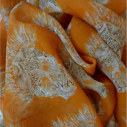 Alexander McQueen Zijden sjaal patronen