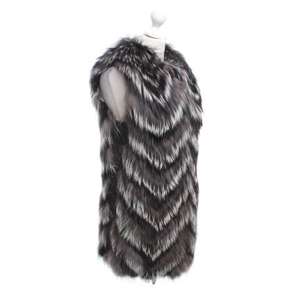Other Designer Blancha - Vest with fur trim