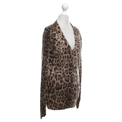 Dolce & Gabbana Strickjacke mit Leoparden-Muster