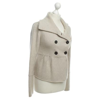 René Lezard Knit Jacket with peplum
