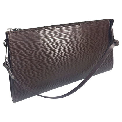 Louis Vuitton Pochette Accessories Epi Leather Brown