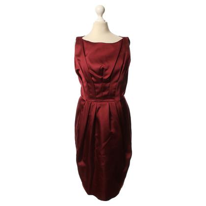 Max Mara  zijden jurk in Bordeaux