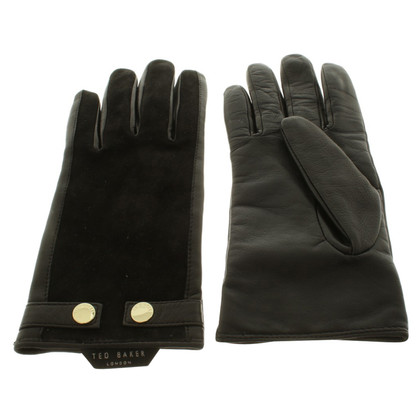 Ted Baker Leather gloves in black