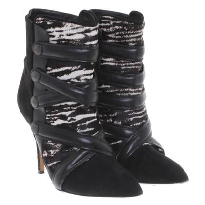 Isabel Marant Enkel laarzen met bont trim