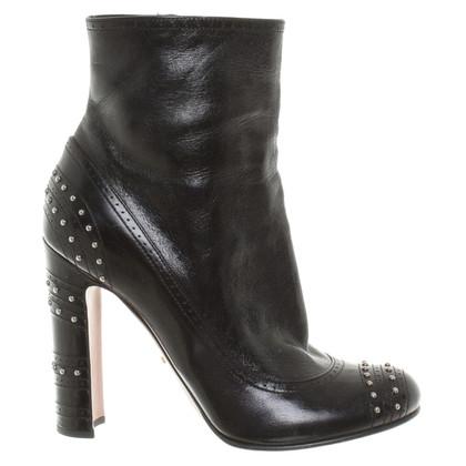 Prada Black ankle boots
