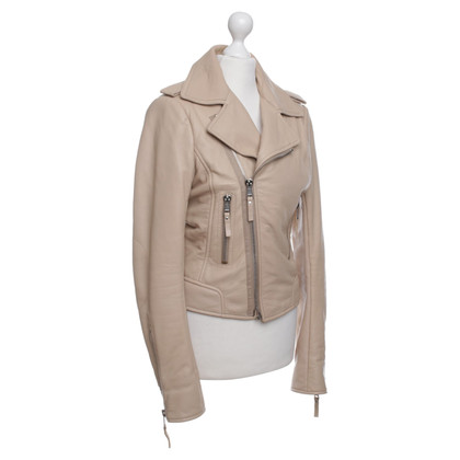 Balenciaga Leather Jacket in Beige