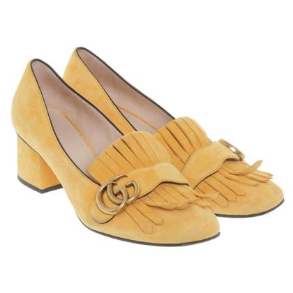 Gucci pumps in giallo senape