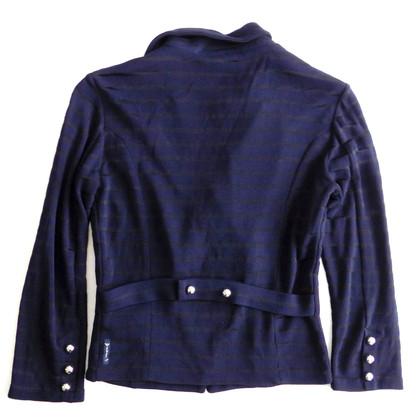 Armani Jeans Giacca blu con bottoni a pressione