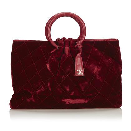 Chanel Handtasche aus Samt