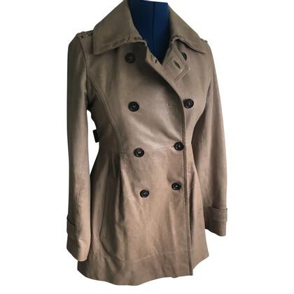 René Lezard manteau de cuir