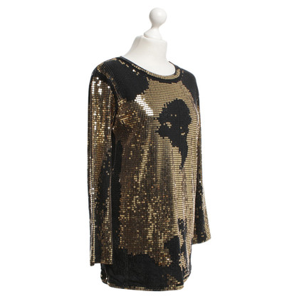 Balmain paillettes Top color oro