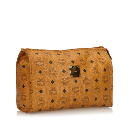 MCM clutch with logo pattern
