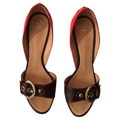 Giuseppe Zanotti Sandaletten aus Materialmix