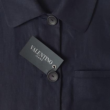 Valentino Leinenjacke in Blau
