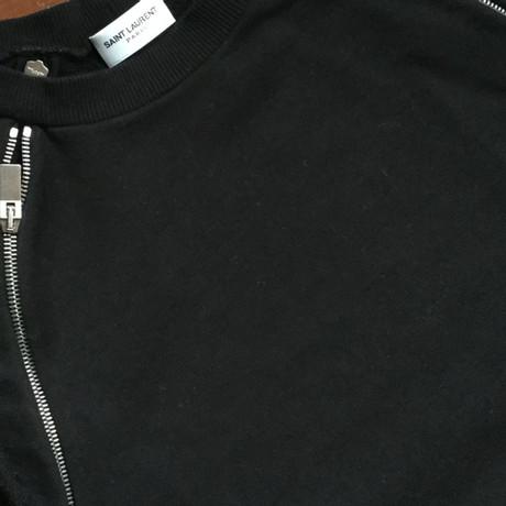 Laurent mit Rei脽verschl眉ssen Saint Schwarz Rei脽verschl眉ssen Sweatshirt Sweatshirt Laurent Saint mit tZq5xBAwg