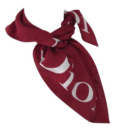 Christian Dior Sciarpa di seta con stampa logo