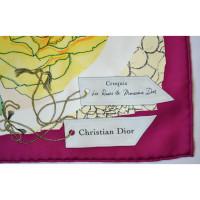 Christian Dior Foulard en soie avec motif
