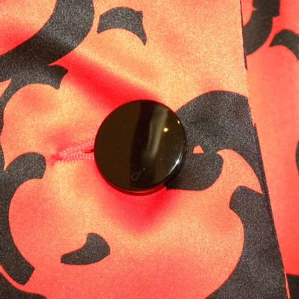Yves Saint Laurent Zijden blouse met patroon