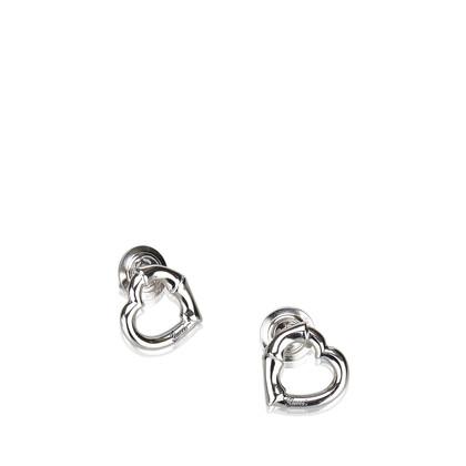 Gucci Silver-colored earrings in heart shape