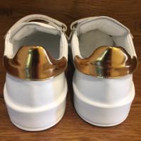 Jil Sander Sneakers en blanc / or