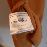 Semi Couture Robe en soie orange