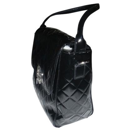 Armani Jeans Patent leather shoulder bag
