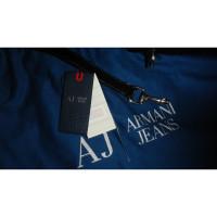 Armani Jeans Sac d'épaule en cuir verni