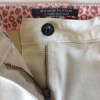Maison Scotch jupe en denim beige clair