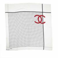 Chanel Seidentuch mit Punktemuster