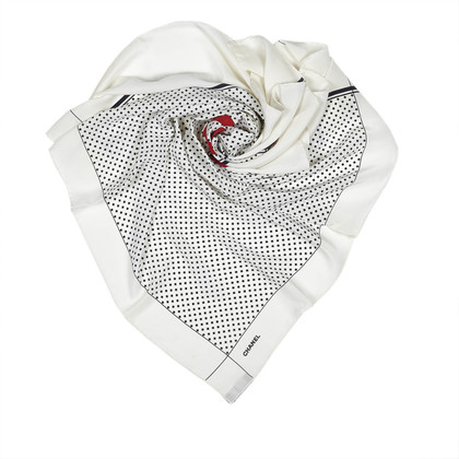 Chanel Silk scarf with dots pattern