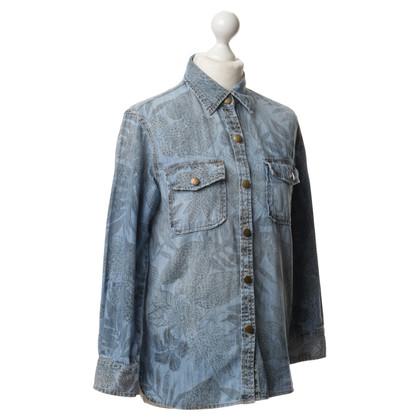 Current Elliott Camicia di jeans con stampa floreale