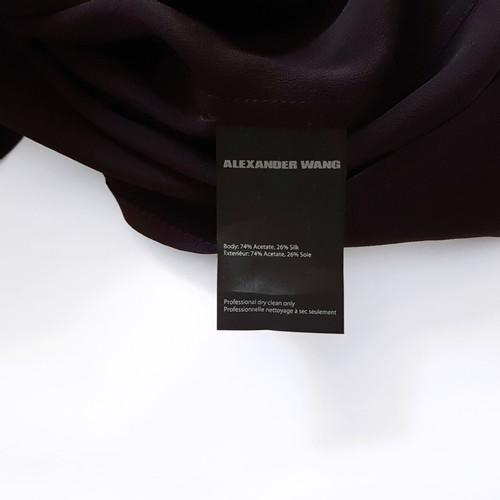 35f51436b3b8ee Alexander WangSchort bordeauxrode jurk- Second-handAlexander ...