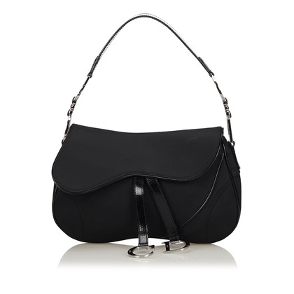 Christian Dior Nylon Doppel Saddle Bag